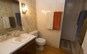 Log Cabin Road bathroom 1