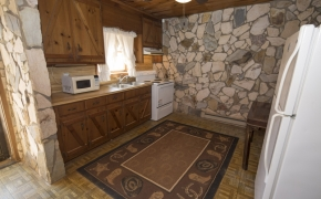 Log Cabin Road lower kitchen