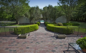 Equestrian Pool House View