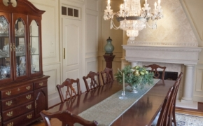 Southern Plantation Home Dining Room