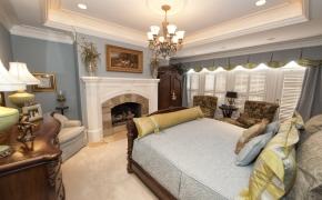 Southern Plantation Home Master Bedroom