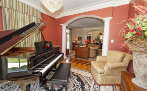 Southern Plantation Home Music Room