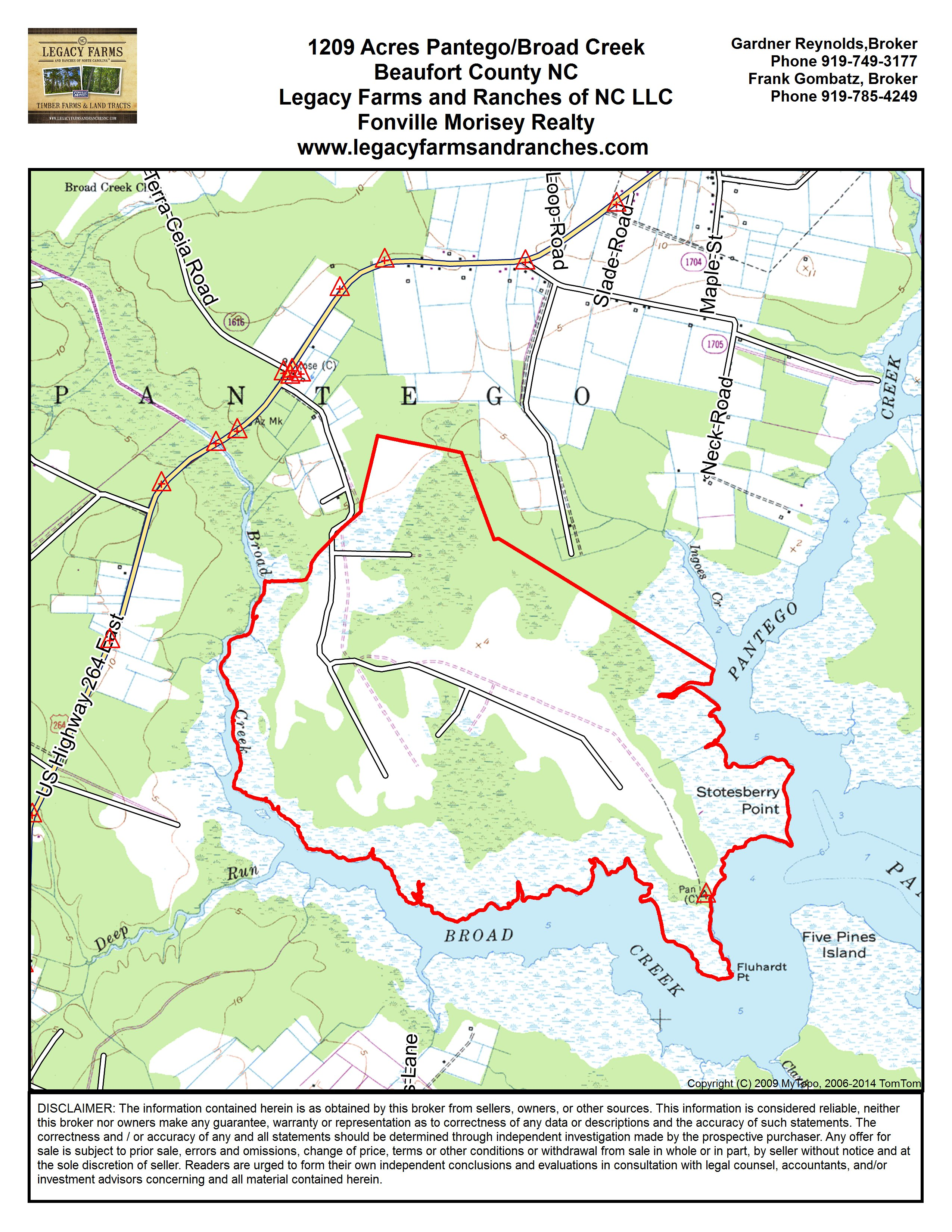 Pantego 1209 Acres on the Inner Banks Beaufort County waterfront