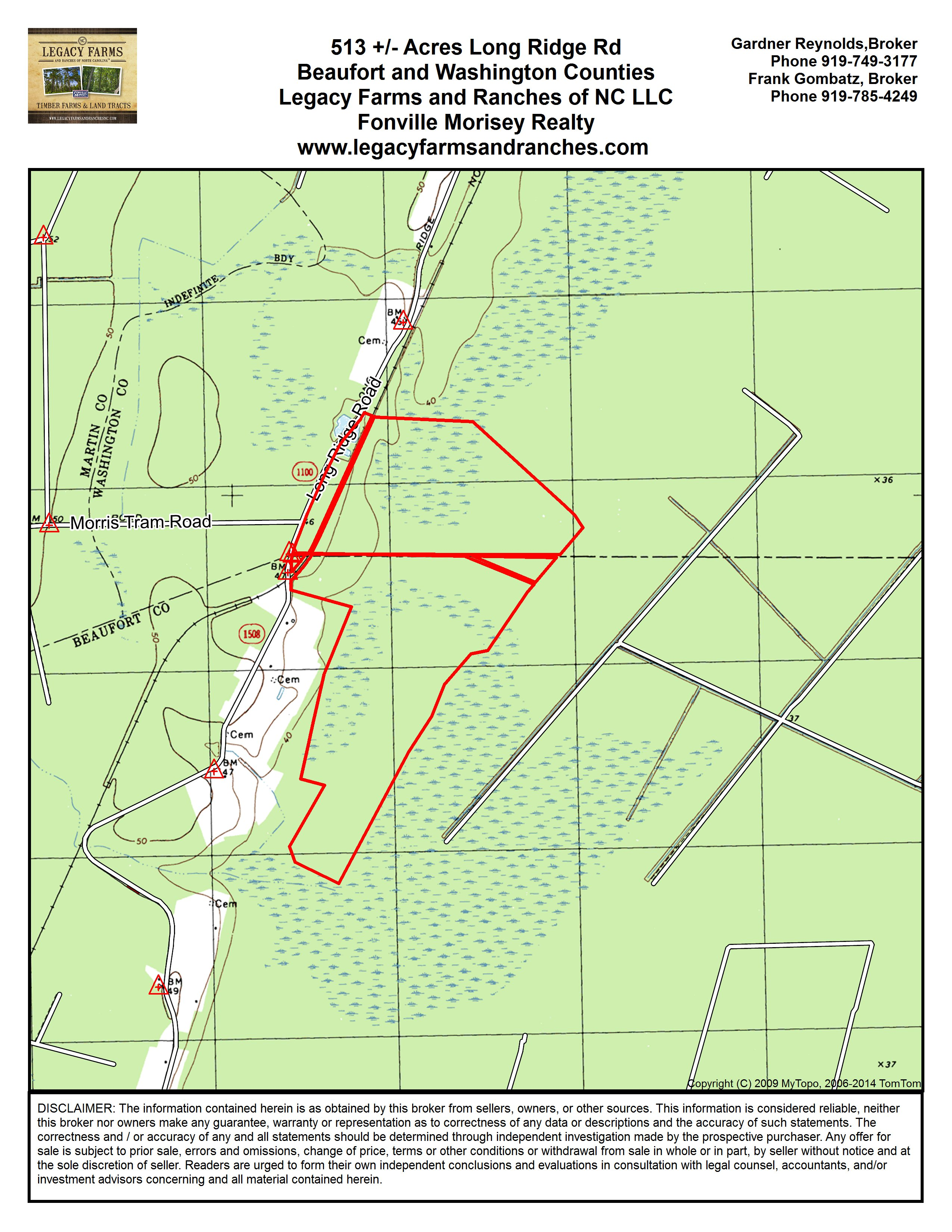 513 Acres for Sale Washington and Beaufort County NC Line