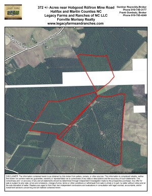 372 acres on Halifax Martin County Line