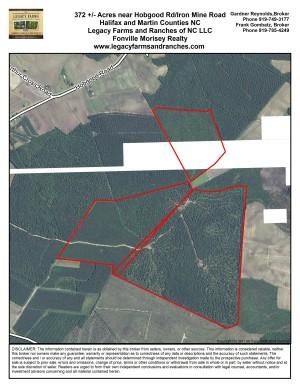 372 acres on Halifax Martin County Line