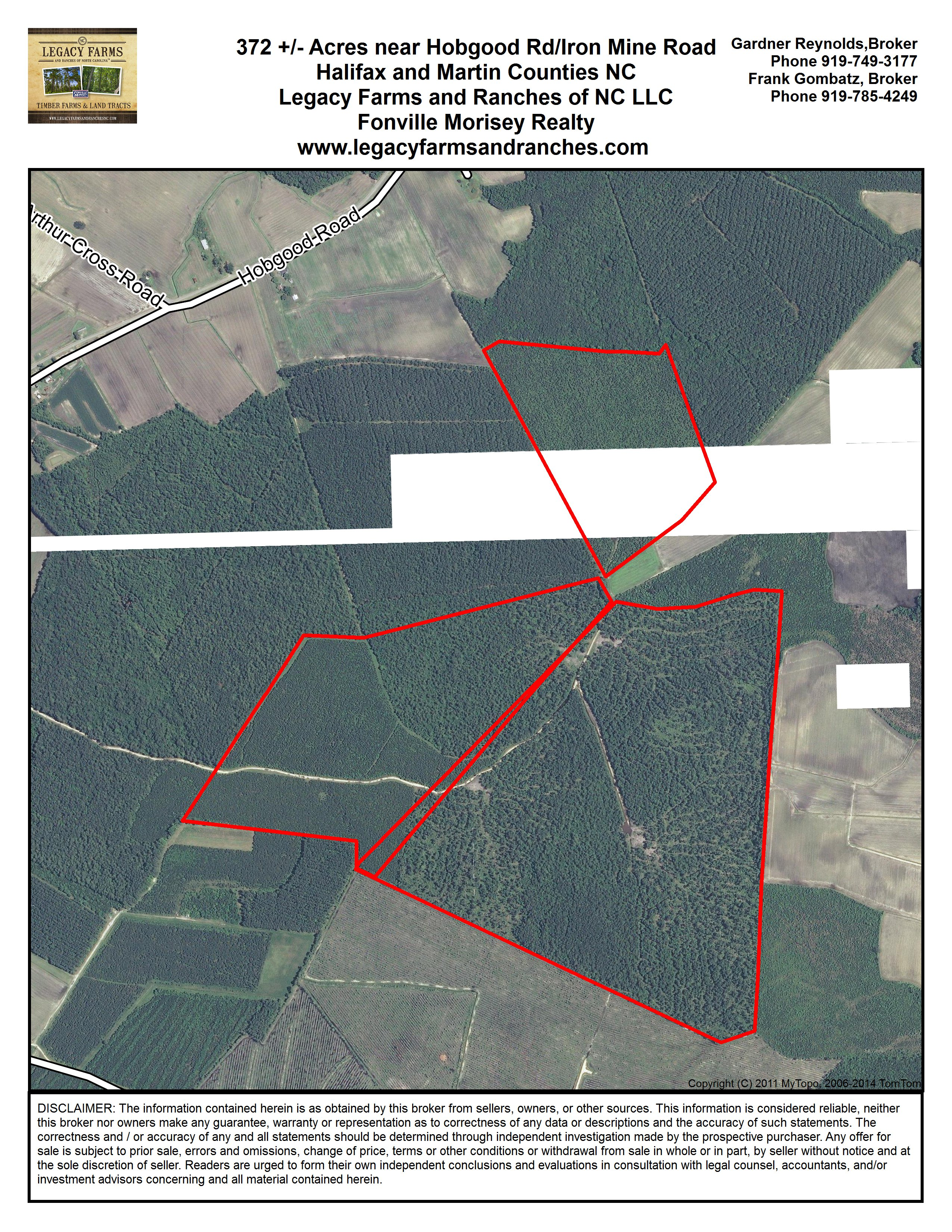 362 acres on Halifax Martin County Line