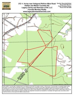 372 acres on Halifax Martin County Line near Hobgood NC