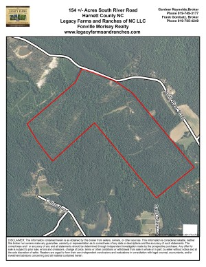 154 Acres on South River Road near Lillington in Harnett County NC
