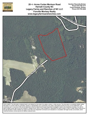 Harnett County NC 29 Acres off Cortez Morrison Road