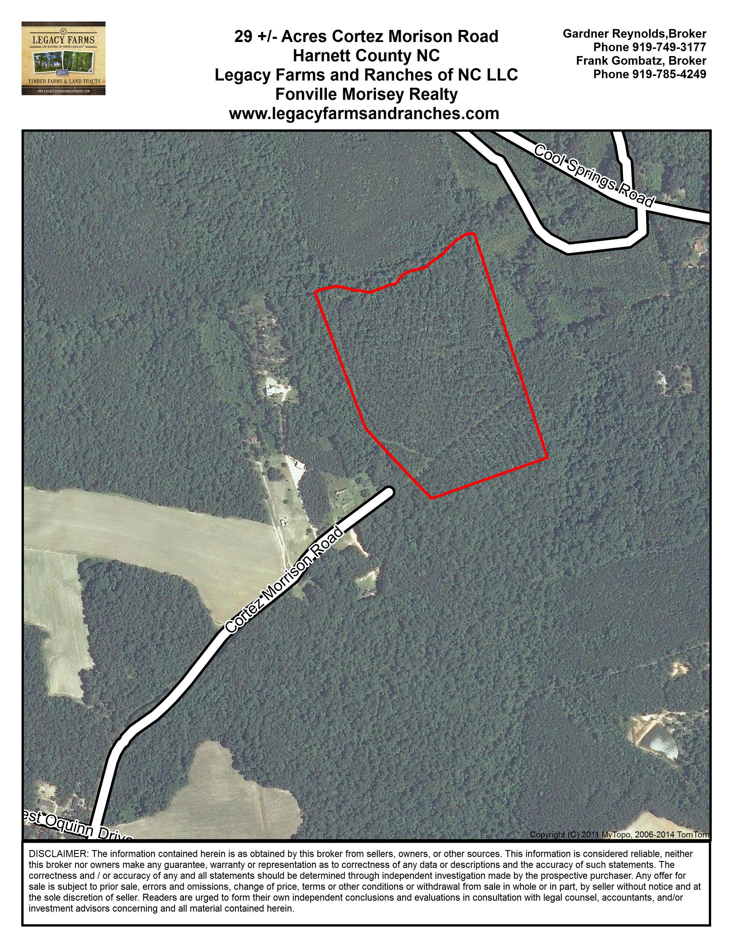 Harnett County NC 29 Acres off Cortez Morrison Road