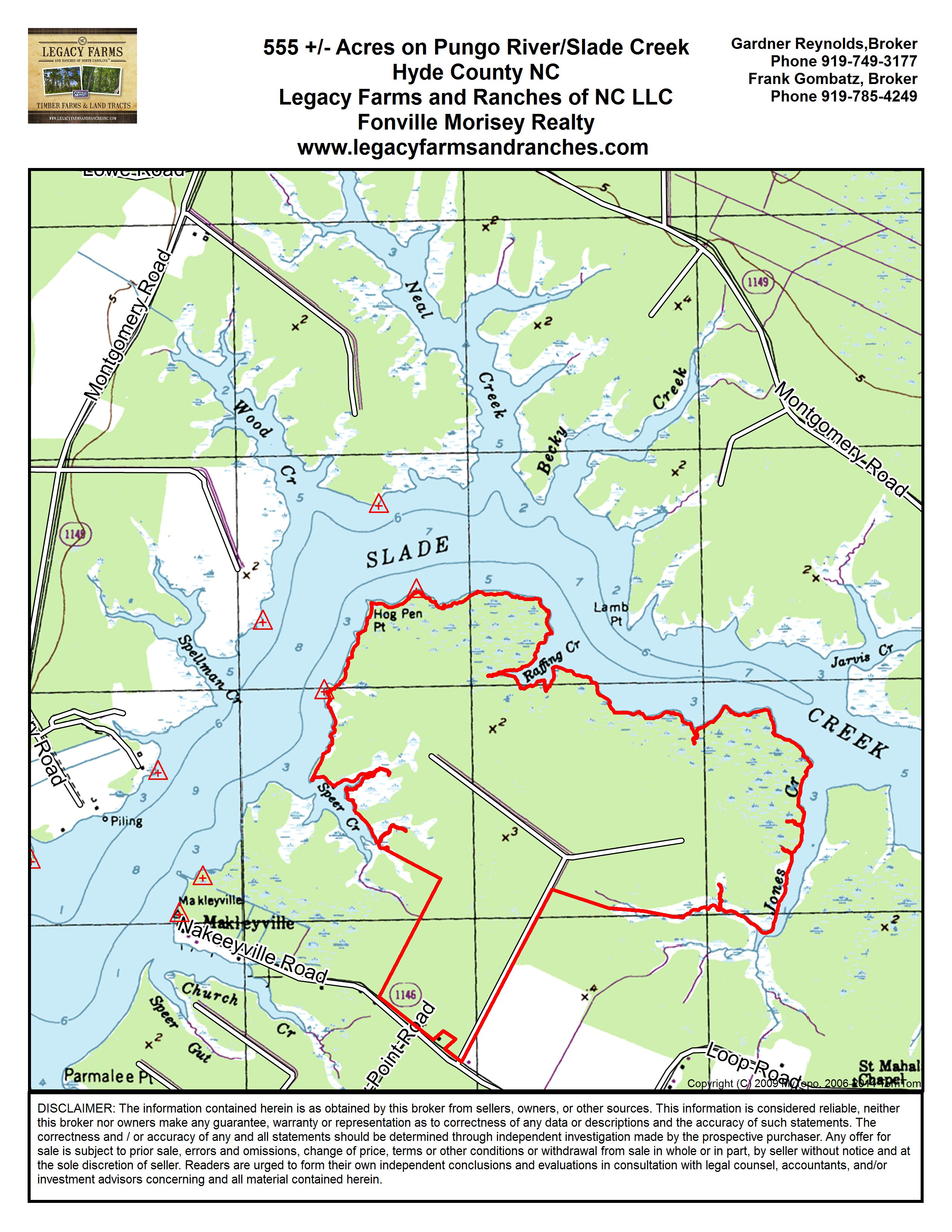 555 Acres On Slade Creek Pungo River Near Belhaven In Hyde County