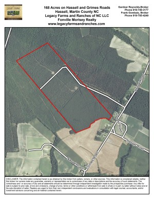168 Acres at Grimes Road in Martin County NC