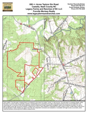 858 Acres on Taylors Gin Road near Castalia in Nash County NC