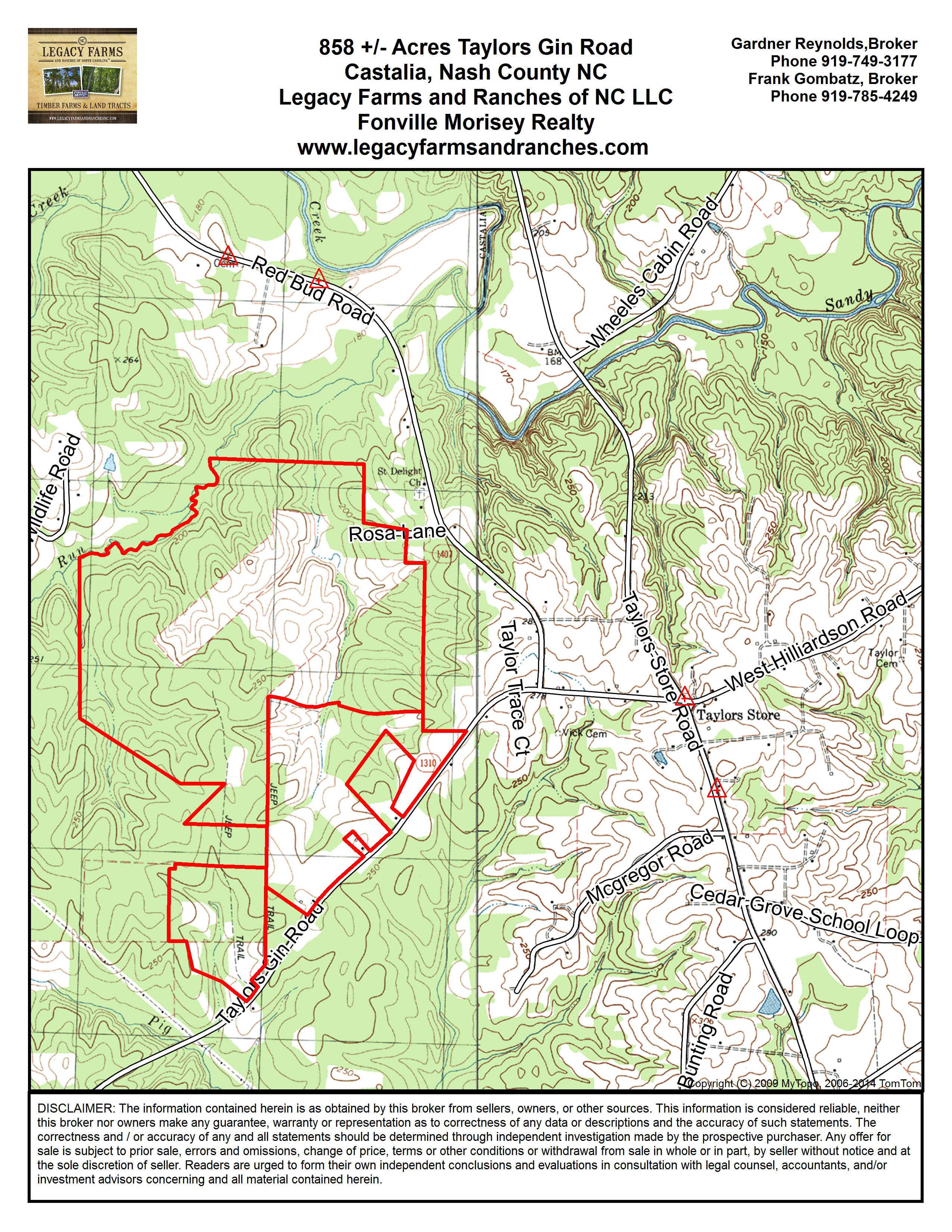 858 Acres on Taylors Gin Road near Castilla in Nash County NC