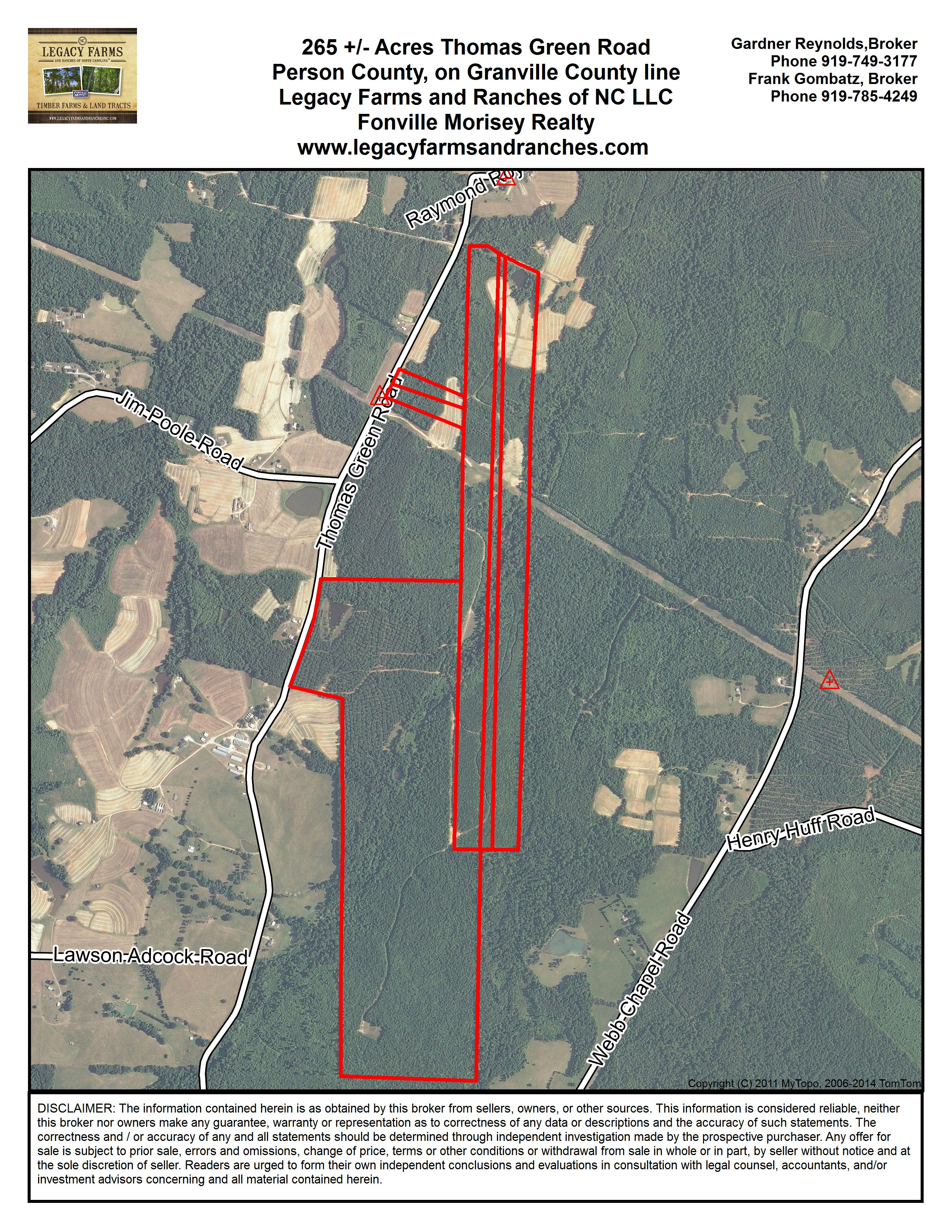322 Acres on Thomas Green Road in Person County NC