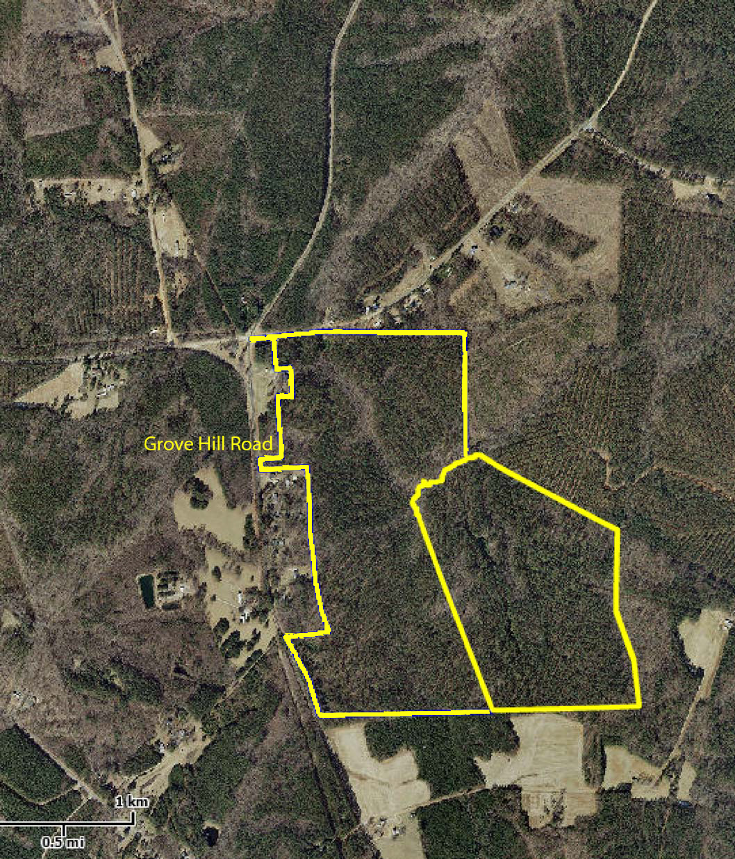 Warren County 195 acres on Grove Hill Road - Legacy Farms & Ranches of NC