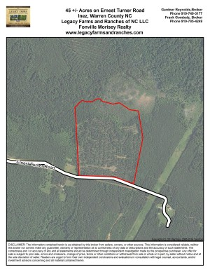 45 Acres on Earnest Turner Road in Warren County NC