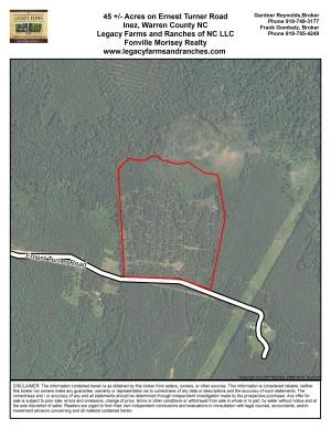 45 Acres on Earnest Turner Road in Warren County NC