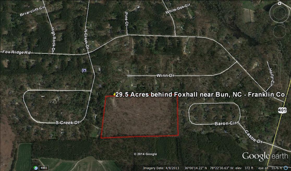 29.5 Acres behind Foxhall near Bunn, Franklin County, NC