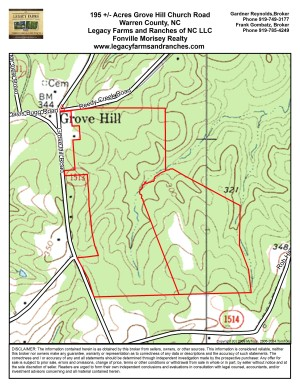 195 Acres on Grove Hill Church Road in Warren County NC