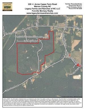 228 Acres Capps Farm Road in Warren County near Hollister