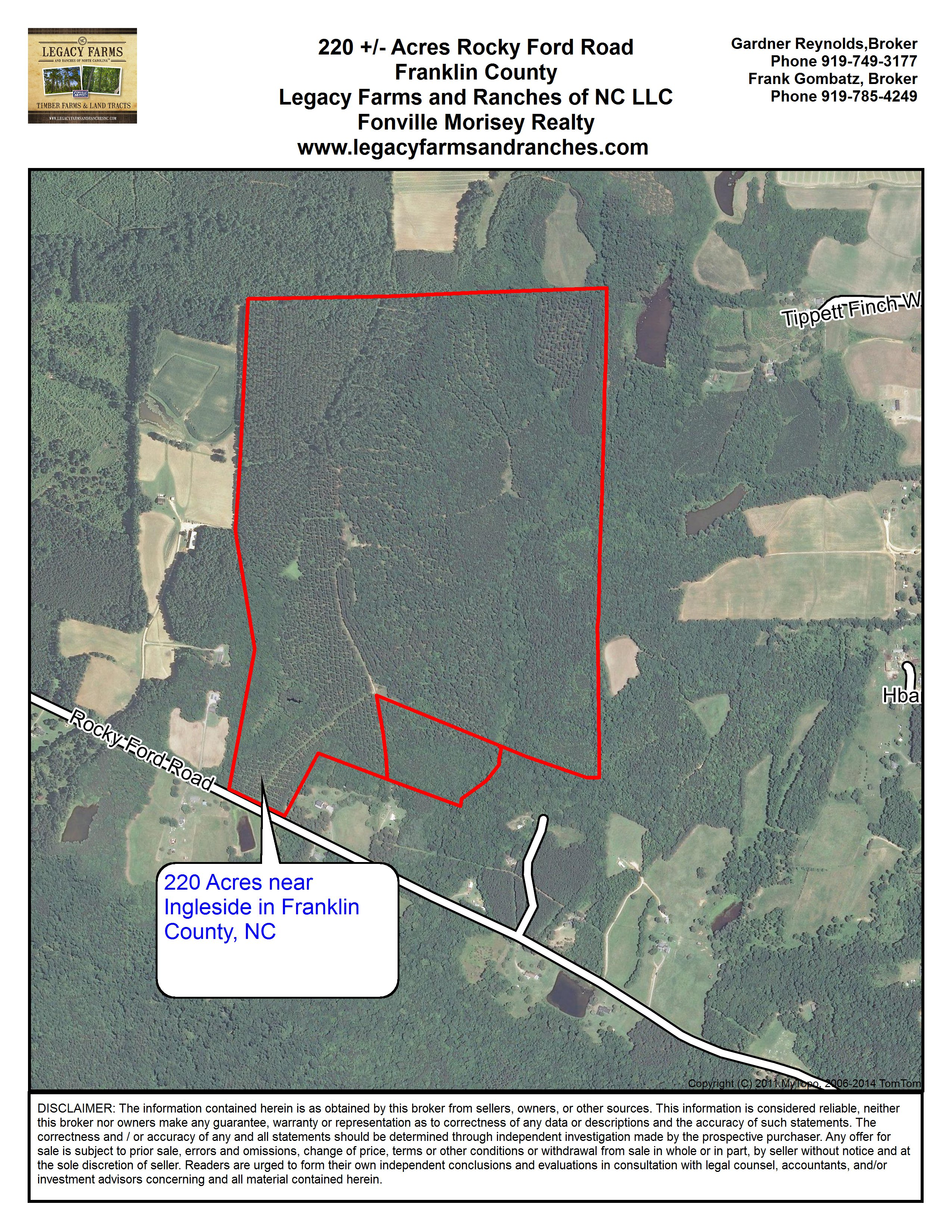 Ford Of Franklin >> 220 Acres on Rocky Ford Road near Ingleside and Hwy 401 in ...