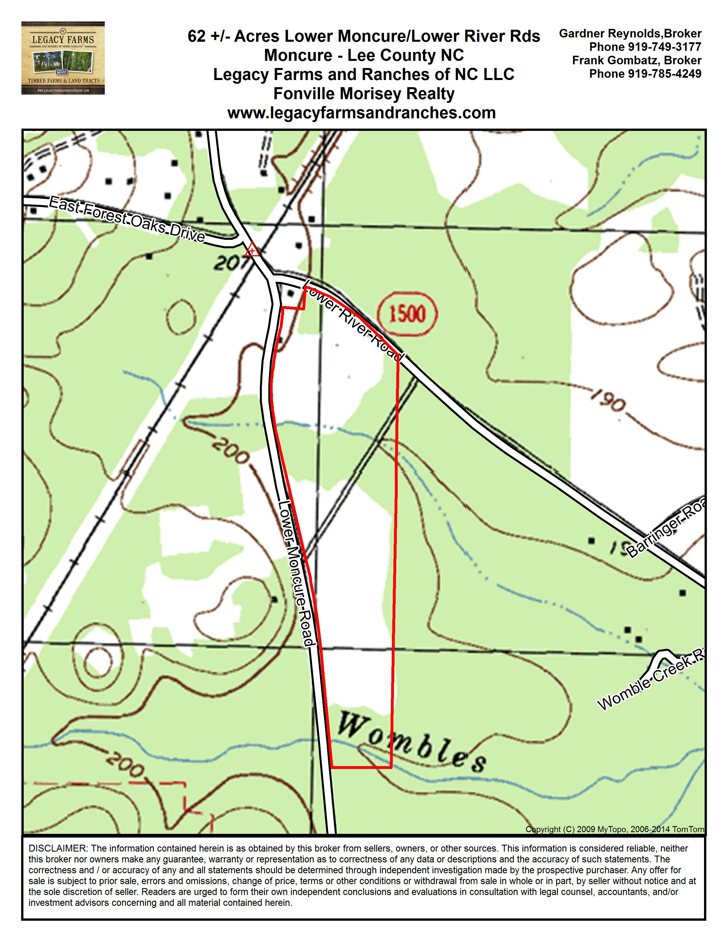 62 Acres For Sale On Lower Moncure Road In Lee County Nc 310 000