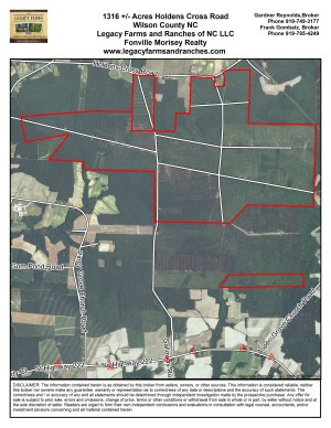 1316 Acres on Hwy 111 near Wilson and Saratoga in Wilson County NC