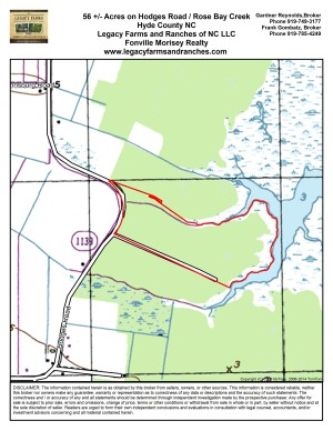 56 Acres overlooking Rose Bay in Hyde County NC