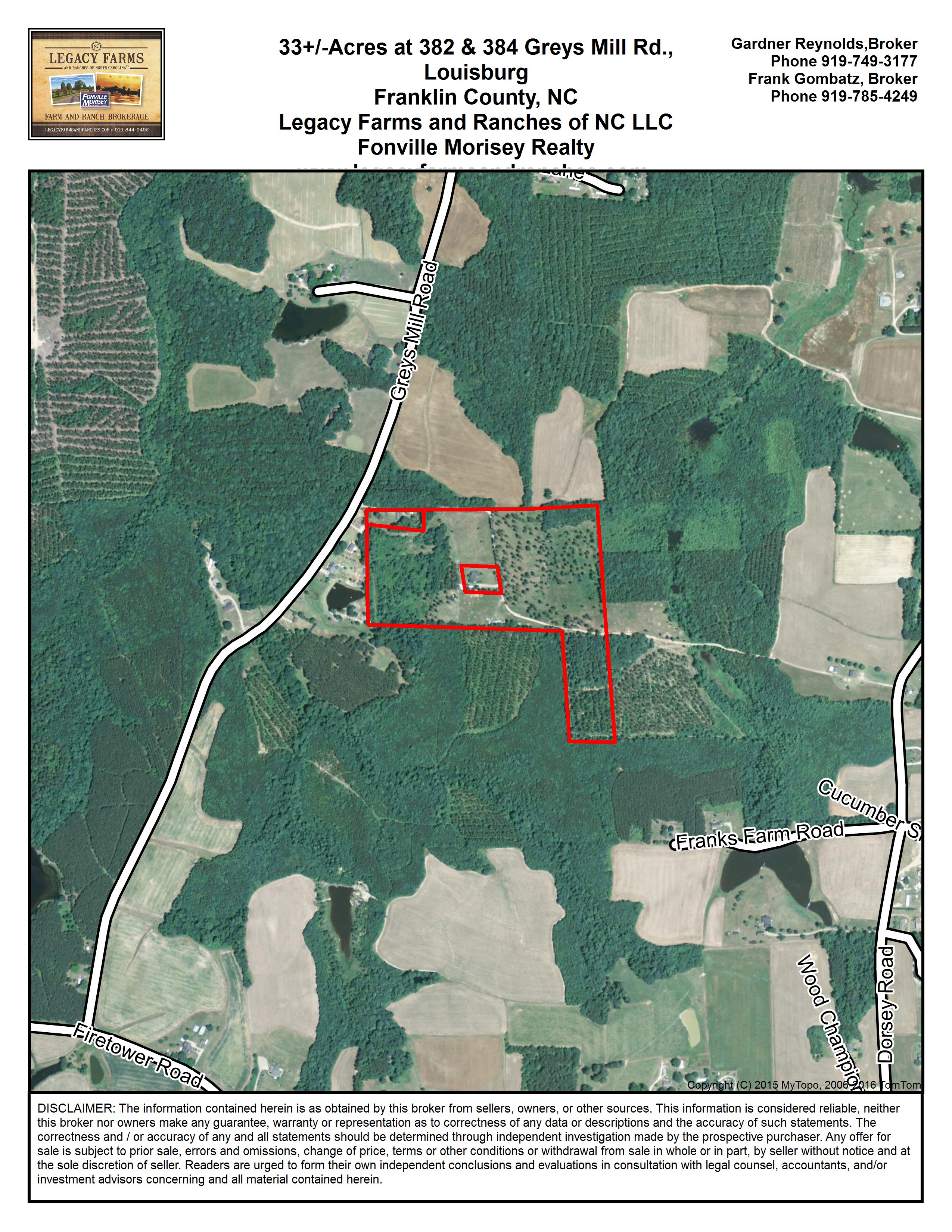 Louisburg Franklin County North Carolina Land For Sale