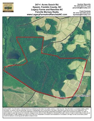 247 Acres for Sale on Gooch Road in Henderson NC