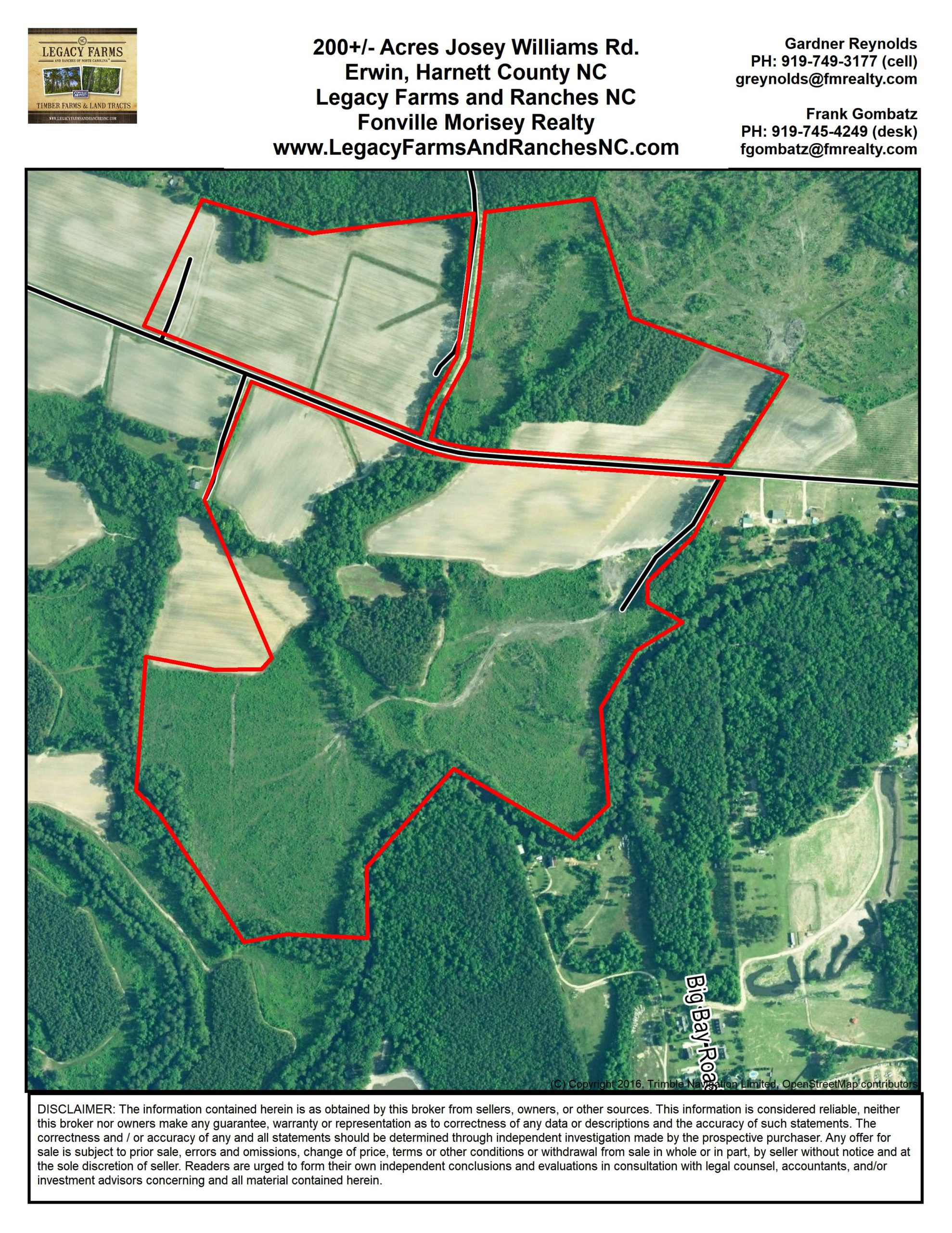 200 Acres Josey Williams Rd Harnett County NC land for Sale