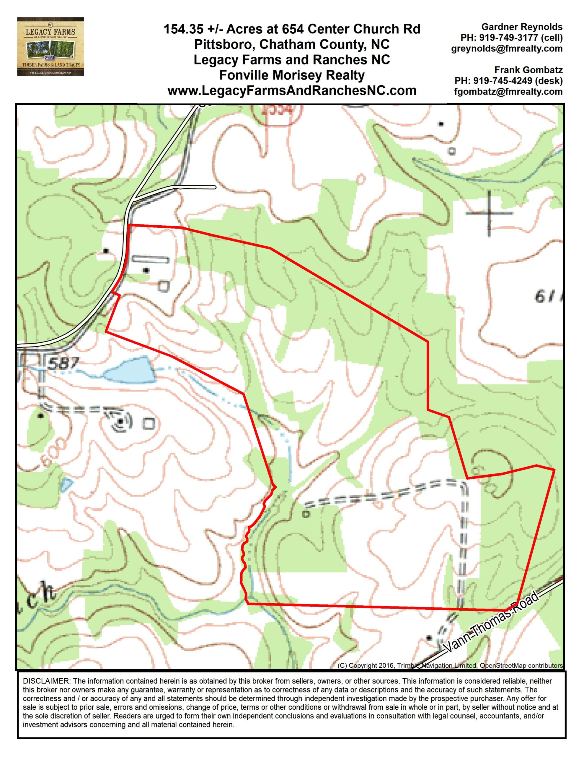 154 Acres for Sale in Chatham County