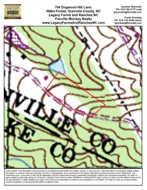 Topo Map for 704 Dogwood Hill Lane, Wake Forest NC 27587