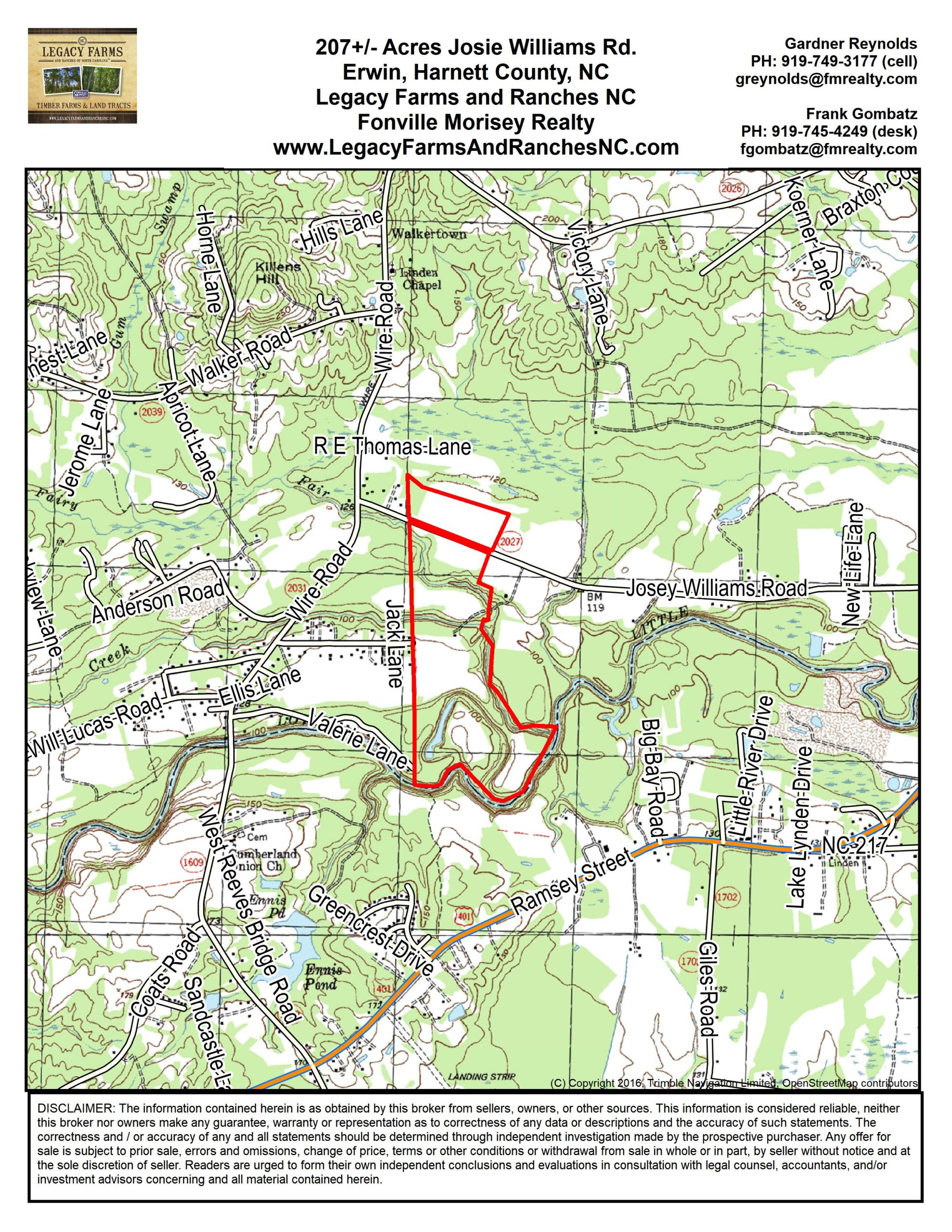 Land for sale in Harnett County, NC