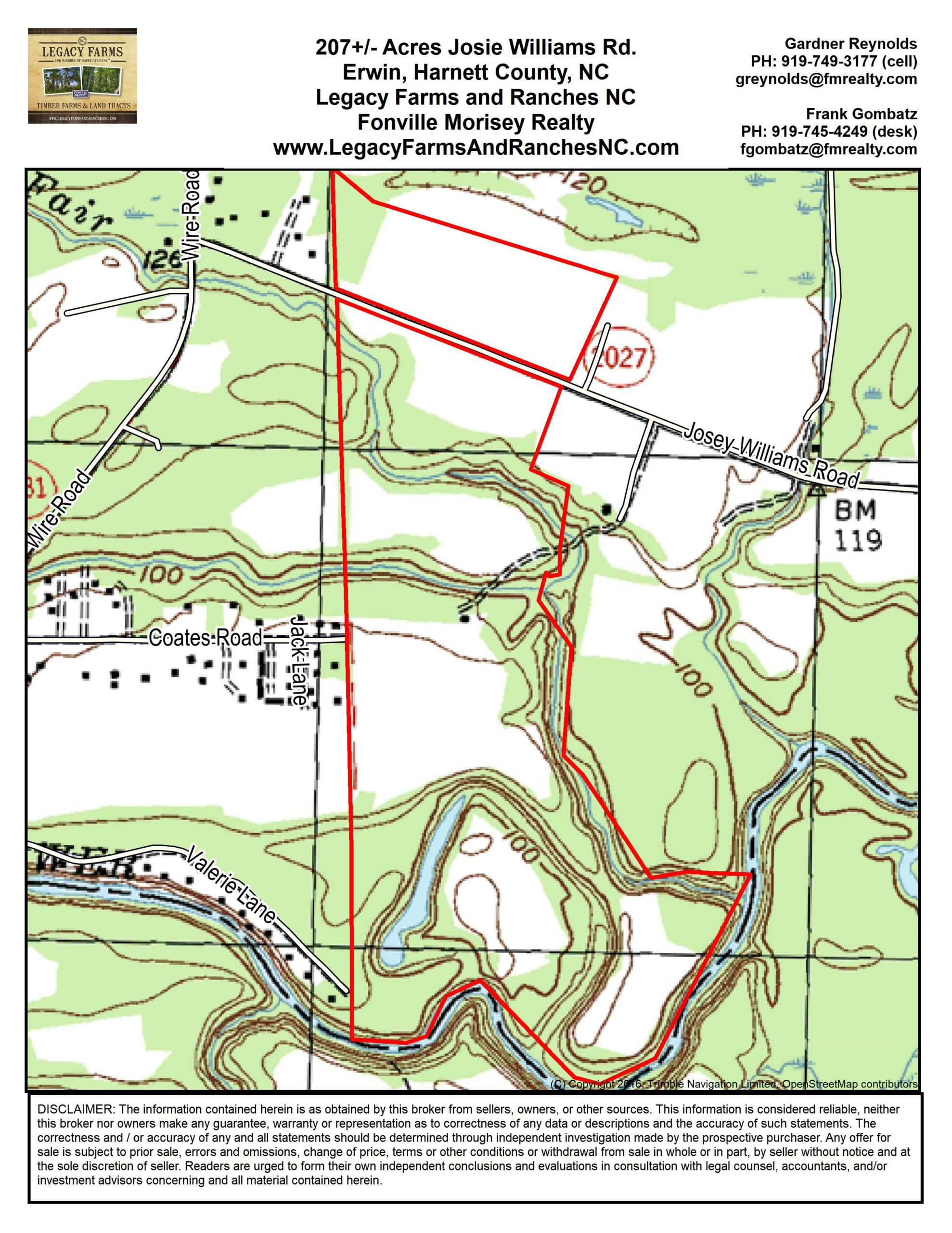 Land for sale in Harnett County, NC Topo