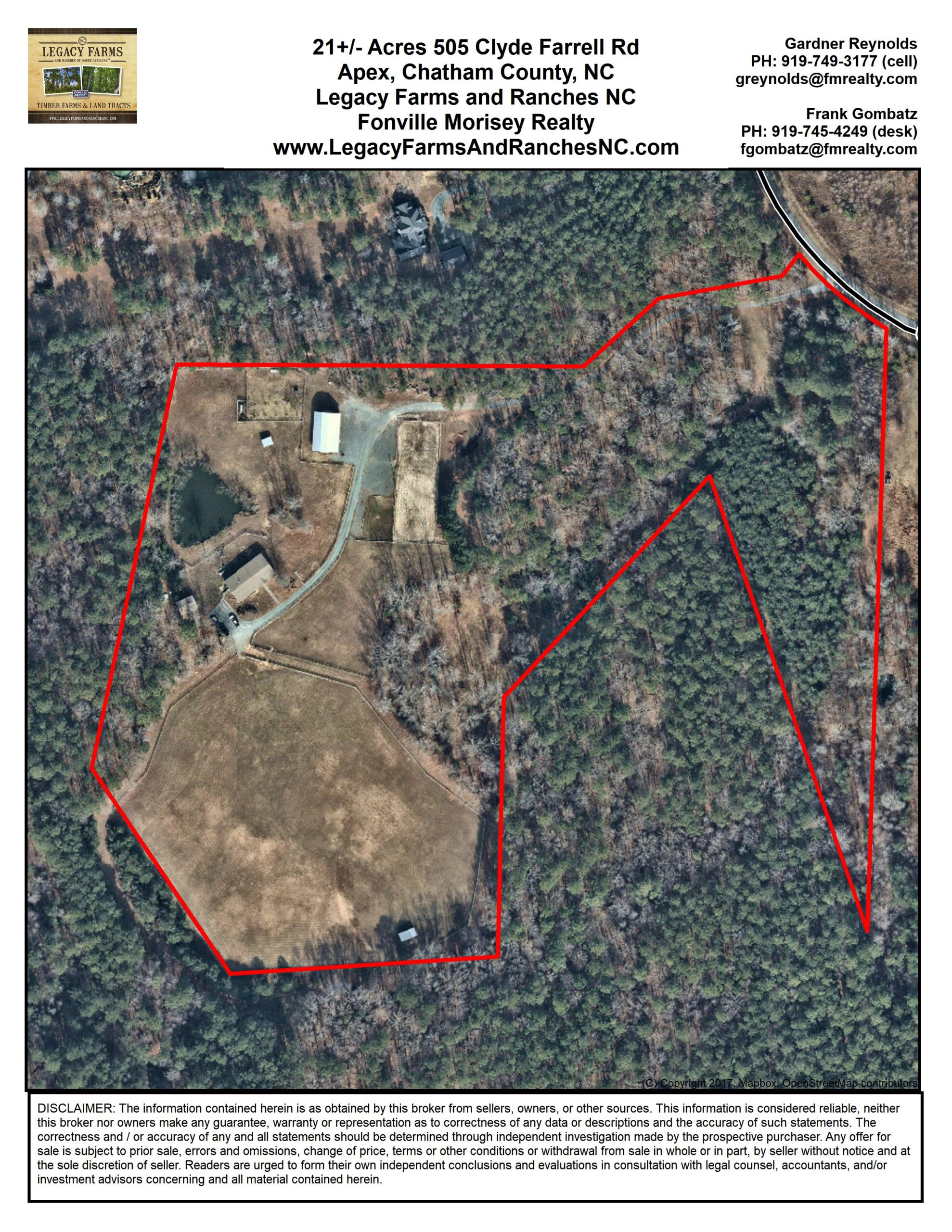 505 Clyde Farrell Road Aerial Map