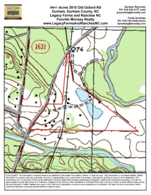 2810 Old Oxford Highway Topo Map