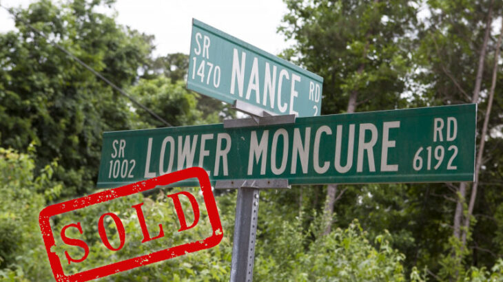 Land Sold Lower Moncure Road